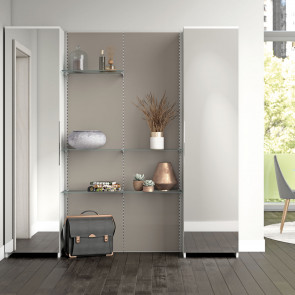 Astor A11 hallway shoe rack with cabinet (dark oak finish out of production)