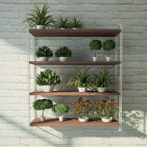 Mini Link set of 4 shelves: example of an outdoor use, for a balcony or a terrace.