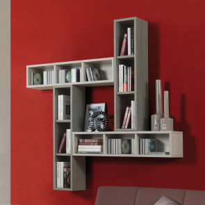 Evolution E05 wall mounted small bookcase (finish out of production)