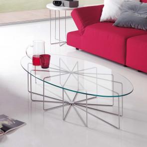 Tavolino da salotto in vetro Silver Glass
