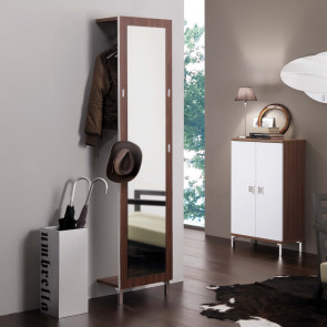 Evolution E02 clothes hanger mirror in wood