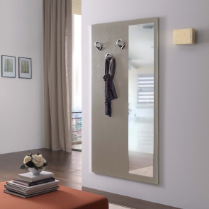 Family F10 wall mounted coat rack with mirror