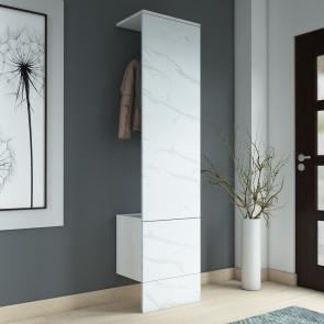 Pannello guardaroba salvaspazio della larghezza di soli 50 cm - finitura marmo statuario