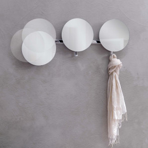 Lady Round hallway mirrors with hooks