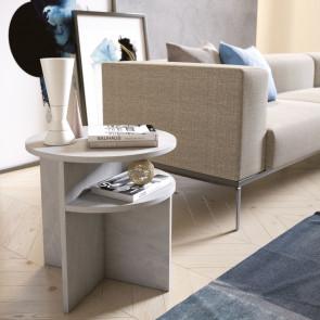 Tavolino lato divano con doppio ripiano Up&Down