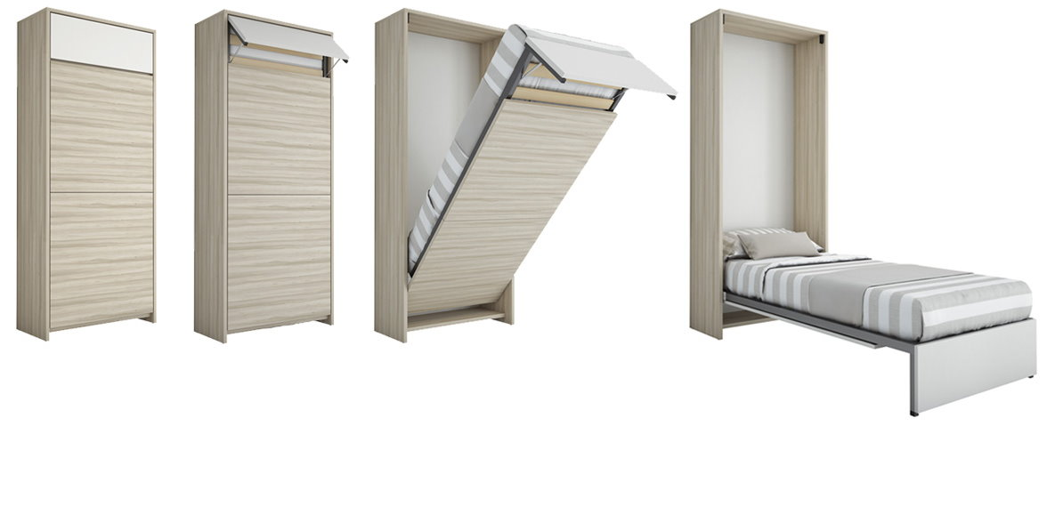 Letti a scomparsa e mobili letto - Letto a parete a scomparsa ...