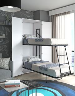 Vertical murphy bunk bed