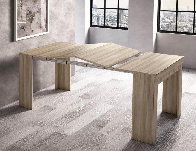 Consolle ingresso allungata e trasformata in tavolo Easy