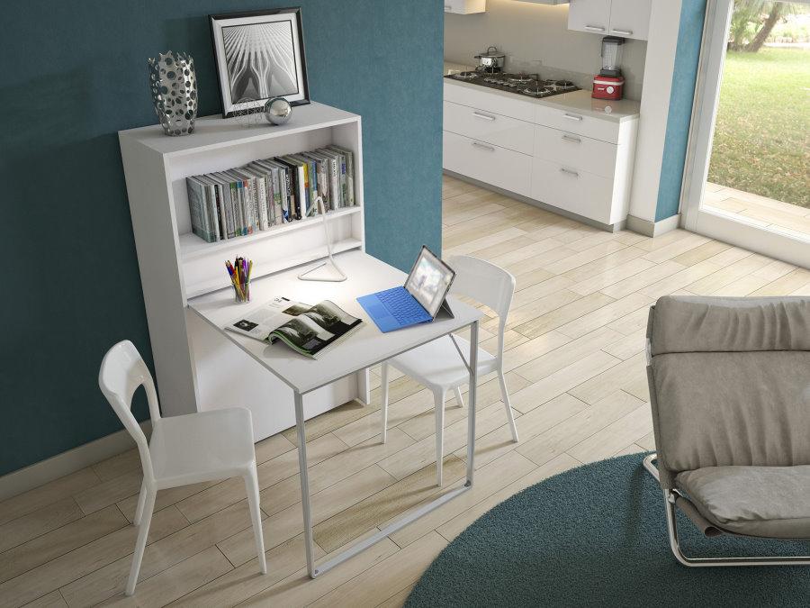 Mobile con letto nascosto e scrivania