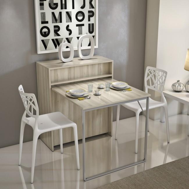 Mobile con letto e tavolo integrati, entrambi a scomparsa