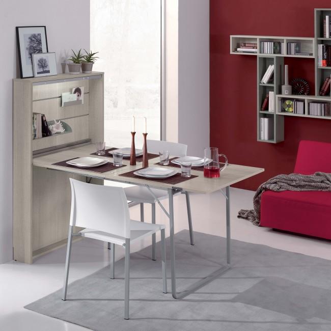 Mobile con tavolo a ribalta aperto allungabile