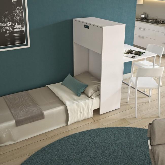 Mobile trasformabile in letto e tavolo per monolocali o ospiti