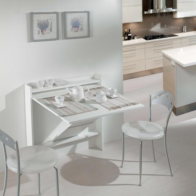 Tavolo a ribalta bianco per due persone